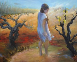 Pruned. Field and Soul, oil on canvas, 230 x x120 cm