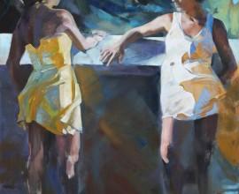 """""""Conversation"""", oil on canvas, 125x175cm."""
